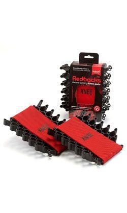 Redbacks KNPDRDLW20 Pocket Kneepads, Machine Washable, Red