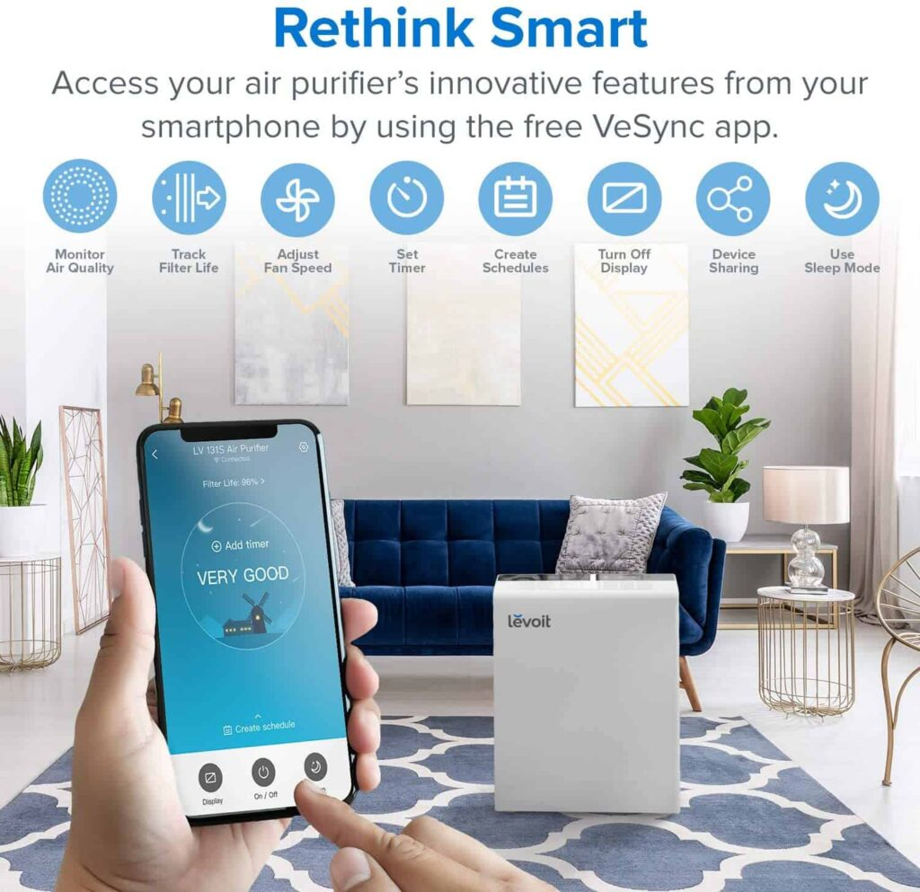 LEVOIT Smart WiFi Air Purifier For Home Large Room