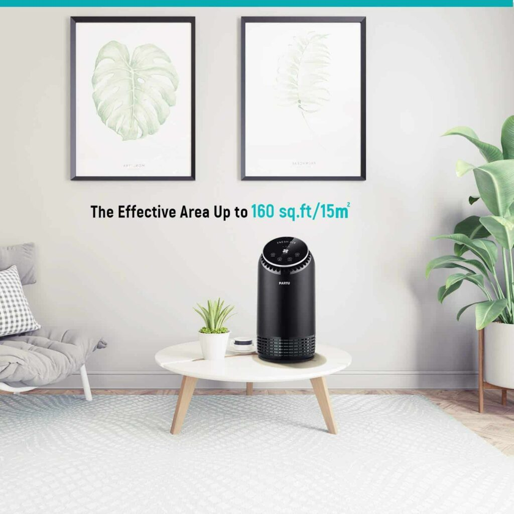 PARTU Air Purifier with True HEPA & Active Carbon Filter