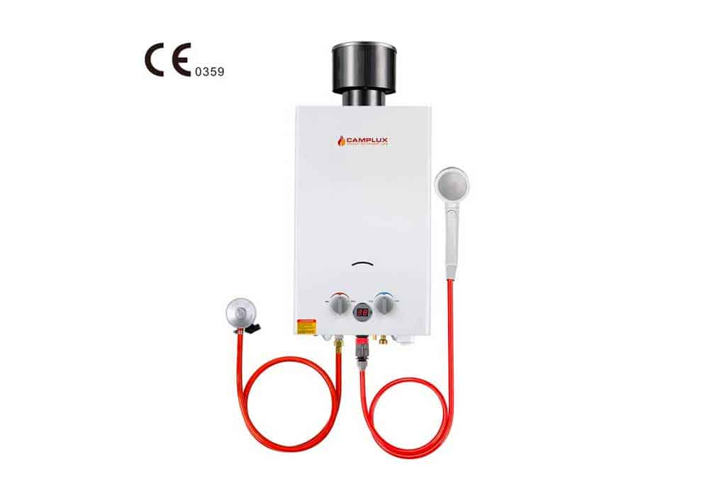 Camplux BW264C Tankless Gas Water Heater with Rain Cap