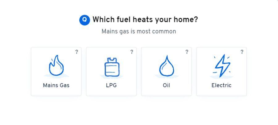 Heatable boiler clickable form