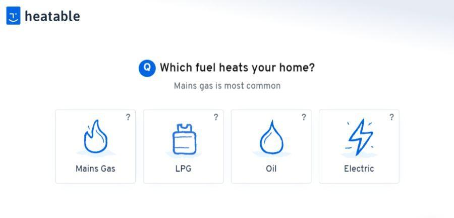 Heatable new boiler form