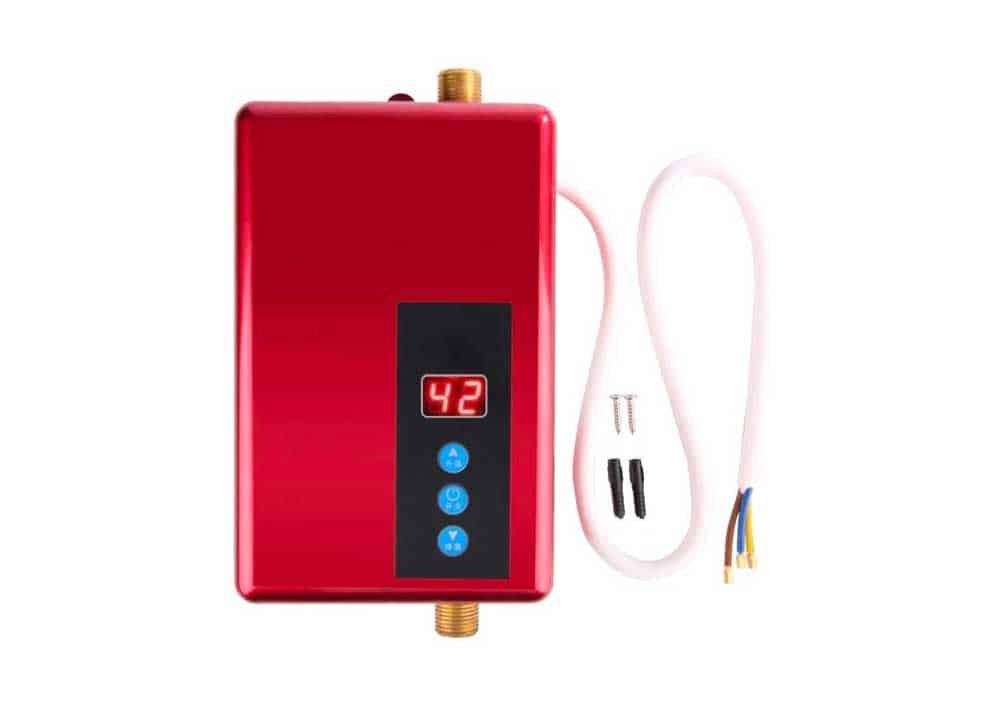 Mini Water Heater, 5500W Electric Instant Water Heater Tankless Shower Hot Water System for Bathroom Kitchen Washing