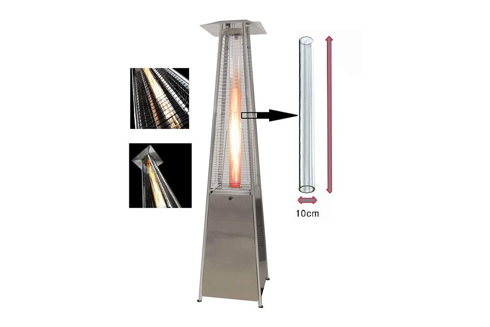 BU-KO Glass Tube Replacement for Pyramid Gas Patio Heater