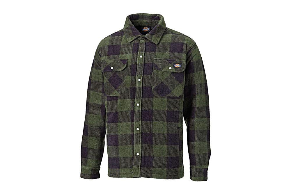 Camisa acolchada Dickies Portland Ropa de trabajo de forro polar (SH5000) FORRO ACOLCHADO CALIENTE VERDE Y MARINO
