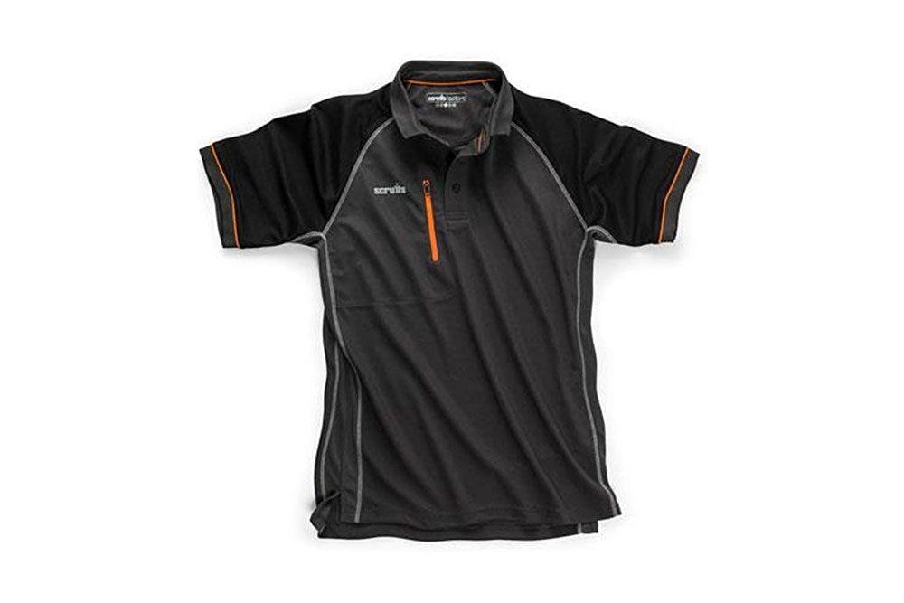 SCRUFFS Trade Active Polo T Shirt Grafito Nuevo para 2018. Ropa de trabajo Ropa de verano