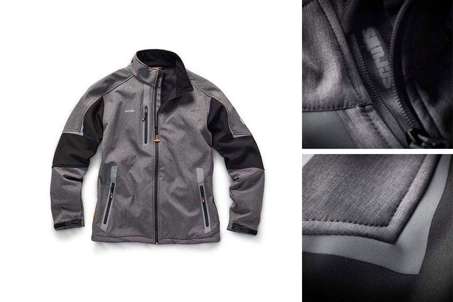 Scruffs T54184 Pro Softshell Jacket Charcoal