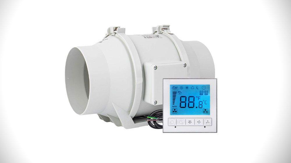 """OOPPEN 6"""" Inline Duct Fan High Efficiency Extractor Fan"""