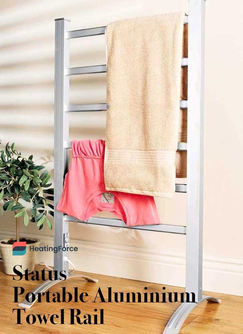 Barra de toalla portátil de aluminio Status