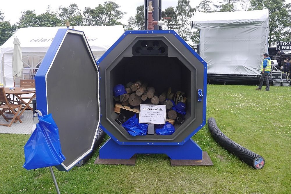 Biomass boiler - runs on wood, straw, etc