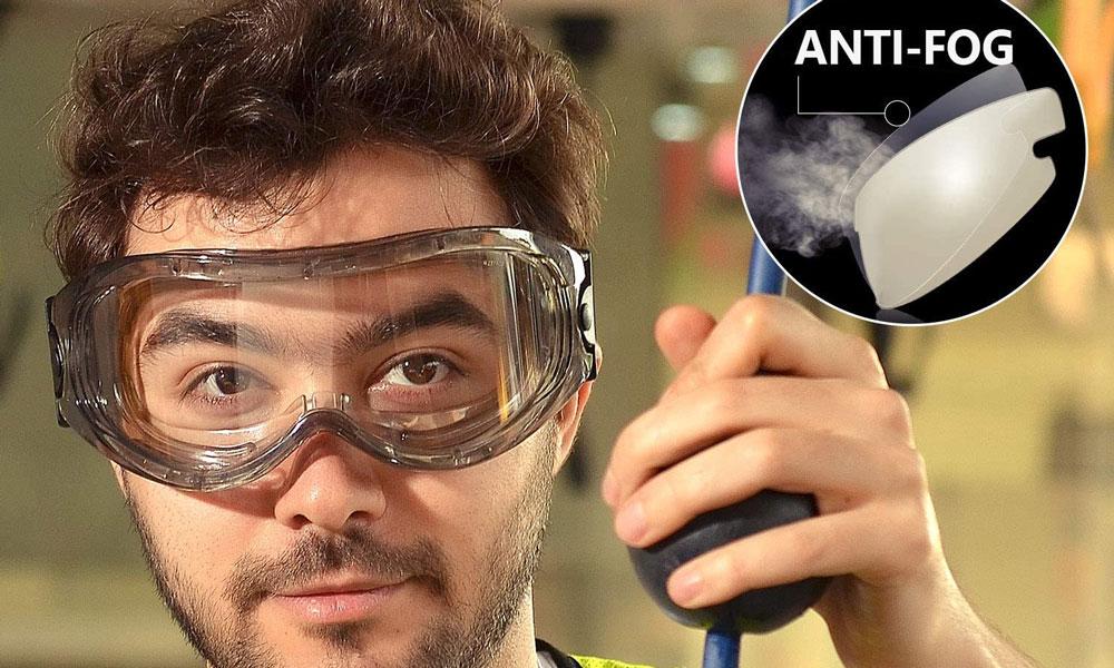 Gafas de seguridad antivaho Safetyear - SG007 Gafas de seguridad envolventes con protección UV