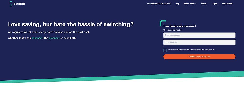 Switchd Review - switch your energy tariff