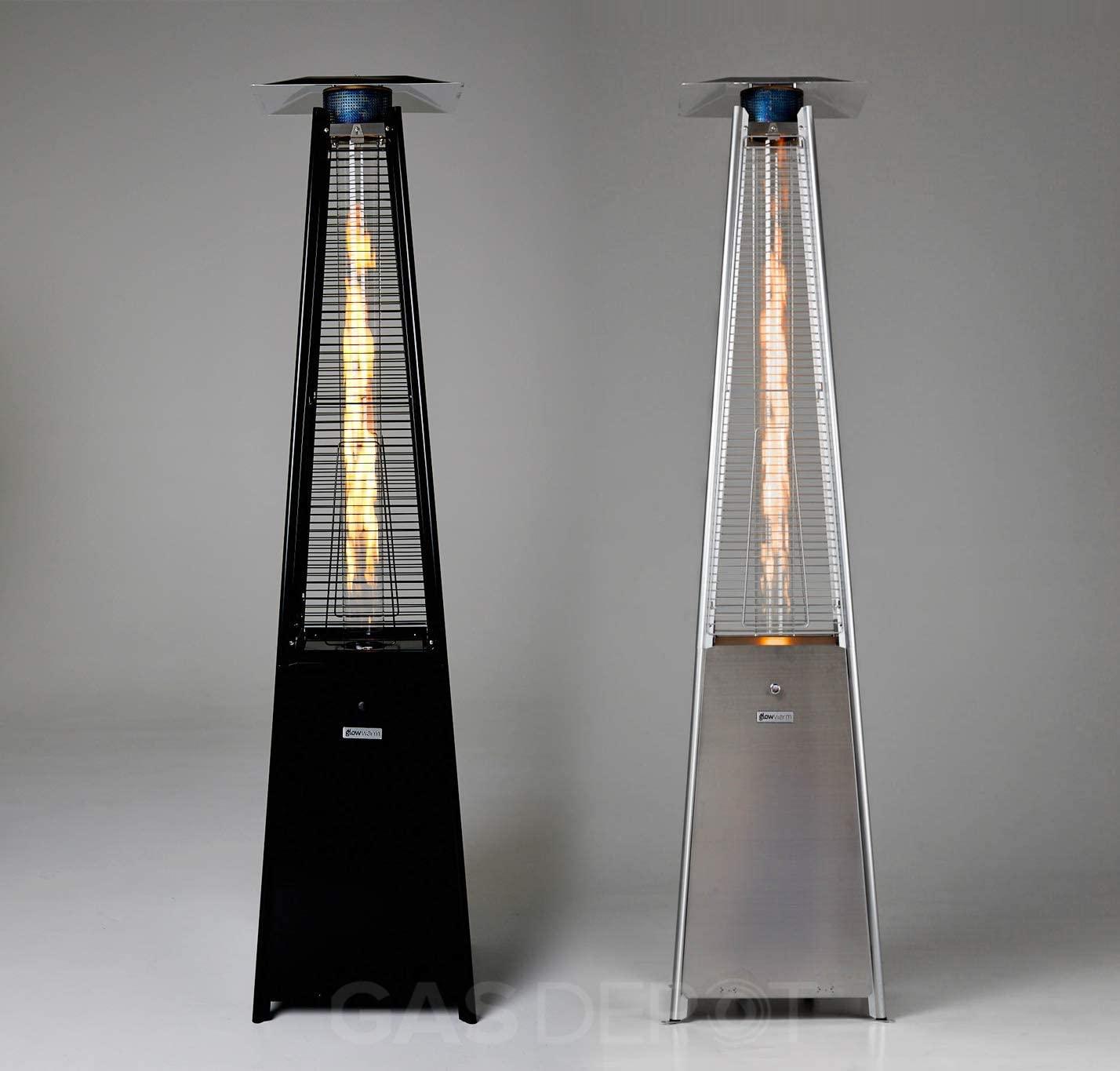 Calentador de patio piramidal para exteriores Gasdepot Real Flame