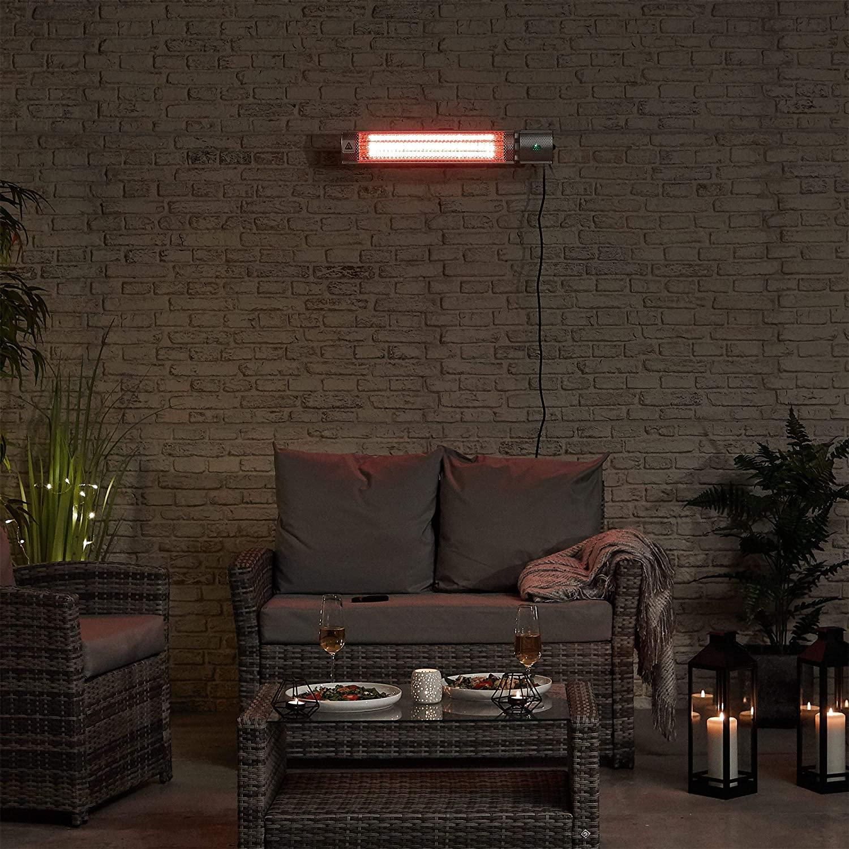 Calentador infrarrojo de pared para patio VonHaus