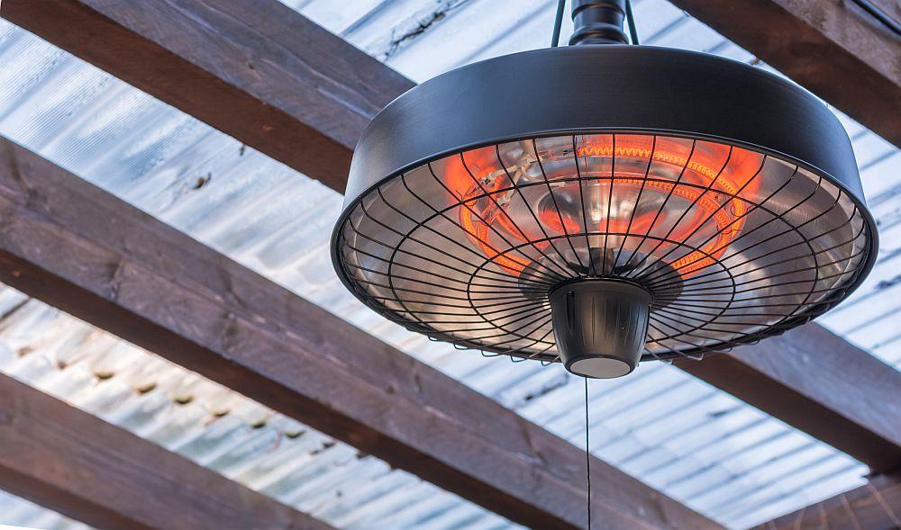 Waterproof electric patio heater