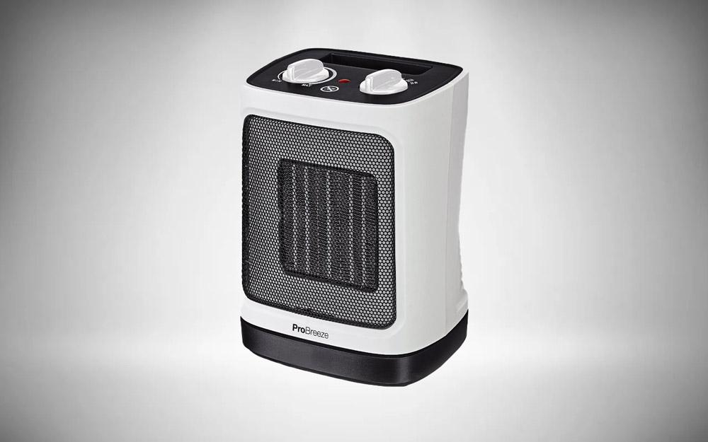 Pro Breeze® 2000W Mini Ceramic Fan Heater - Automatic Oscillation