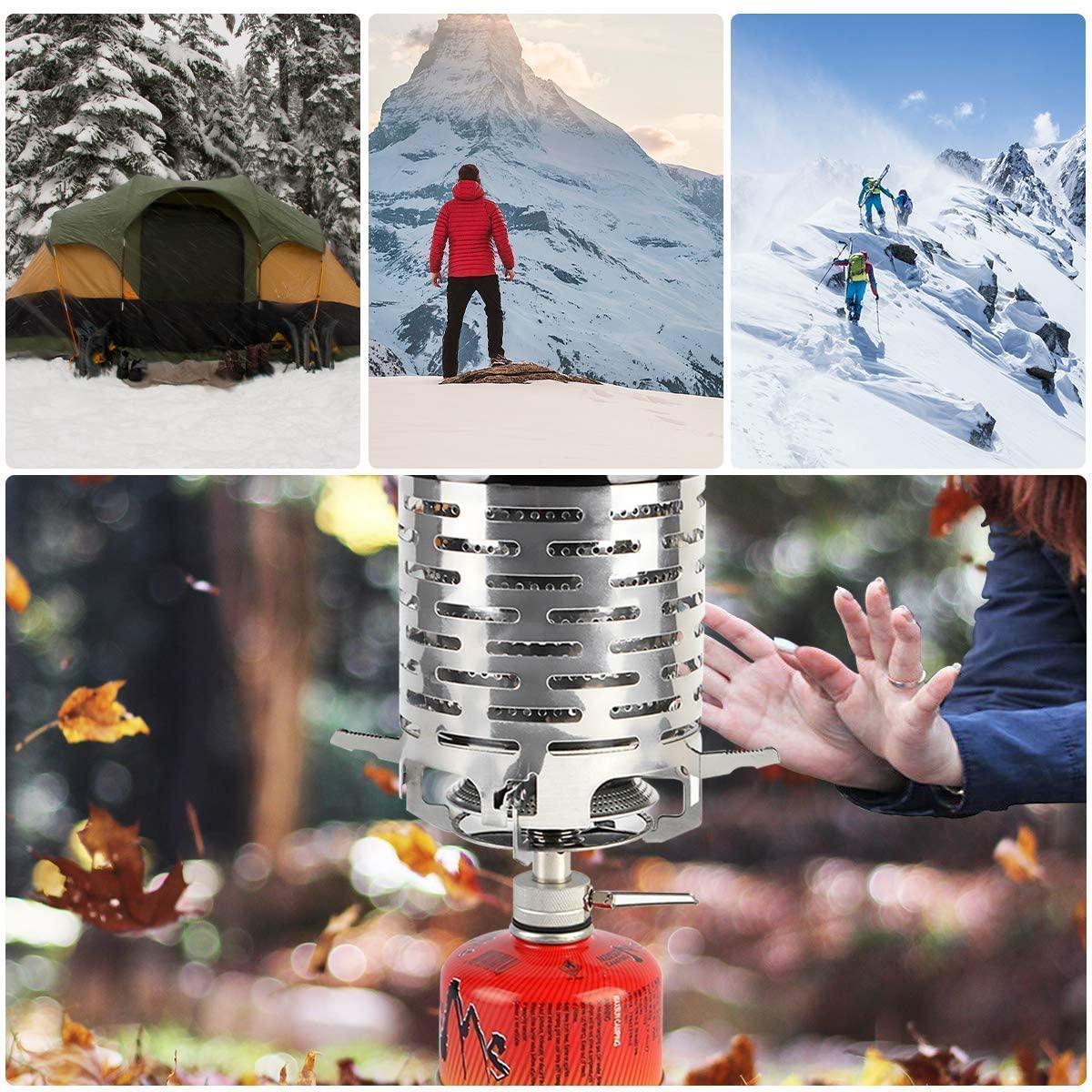 Mini calentador de camping ZONSUSE, calentador de estufa de camping portátil