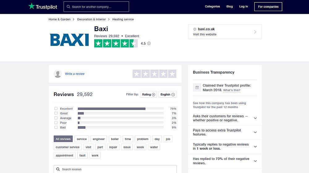 Baxi boilers - Trustpilot reviews