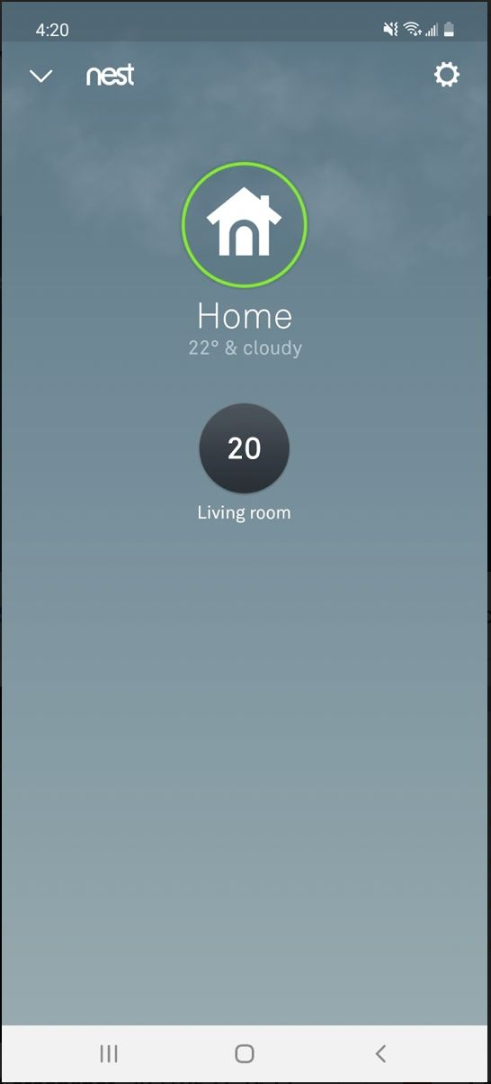 Nest Learning Thermostat smartphone app user interface